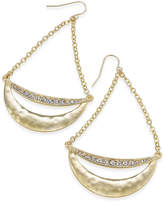 Thalia Sodi Gold-Tone Pavé Crescent Chandelier Earrings, Created for Macy's