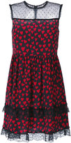RED Valentino sheer panel mini-dress - women - Silk/Polyamide - 40