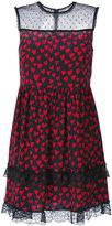 RED Valentino sheer panel mini-dress - women - Silk/Polyamide/Wool - 40
