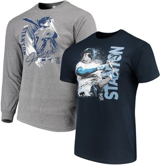 New York Yankees Unbranded Men's Giancarlo Stanton Navy/Gray Splash Player Graphic T-Shirt Combo Set