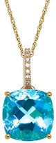 Lord & Taylor 0.035 TCW Diamonds, Topaz and 14K Yellow Gold Pendant Necklace