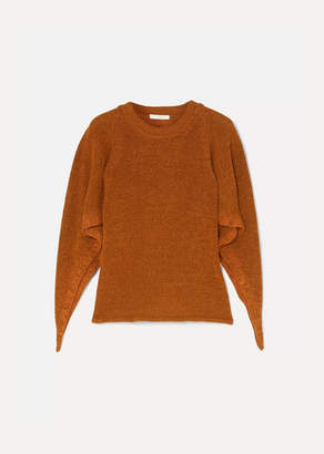 Chloé Knitted Poncho - Brown