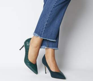 Office Maame Mid Point Court Heels Green Croc