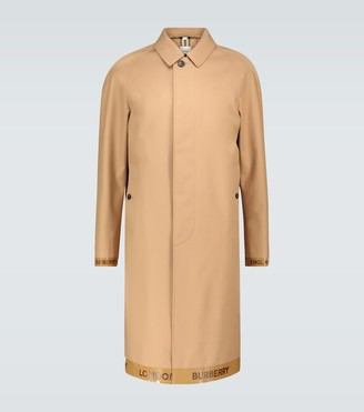 Burberry Mackintosh coat with logo trim