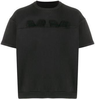 Maison Margiela Split-Logo Short-Sleeve Sweatshirt