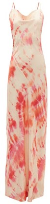 Rat & Boa - Ariel Tie-dye Satin Maxi Dress - Womens - Pink