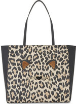 Kate Spade Ladies Brown Leopard Traditional Hallie Leather Tote