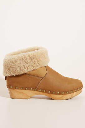 Penelope Chilvers Shearling-Lined Clog Boots
