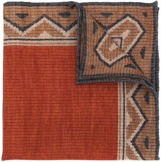 Brunello Cucinelli Geometric-Print Knitted Scarf