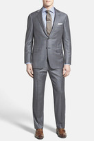 Hickey Freeman Beacon - B Series Classic Fit Check Wool Suit