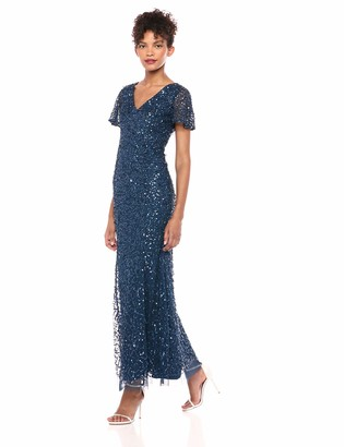 Adrianna Papell Women's Beaded Flare Sleeve Gown