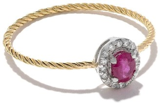 Wouters & Hendrix Gold 18kt Diamond And Ruby Ring