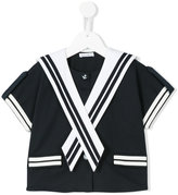 Dolce & Gabbana sailor blouse - kids - Cotton/Polyamide/Spandex/Elastane - 6 yrs