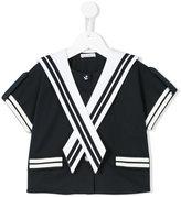 Dolce & Gabbana sailor blouse - kids - Cotton/Polyamide/Spandex/Elastane - 6 yrs
