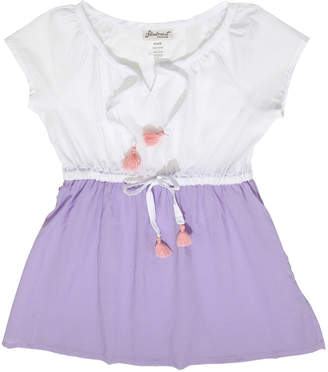 Floatimini Raglan Sleeve Slit Neckline Cover-Up Dress