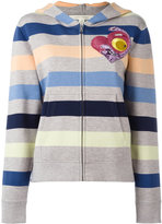 Marc Jacobs striped hooded cardigan - women - Cotton/Nylon/Viscose/Wool - L