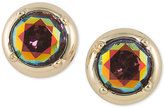 ABS by Allen Schwartz Gold-Tone Multicolor Stone Stud Earrings