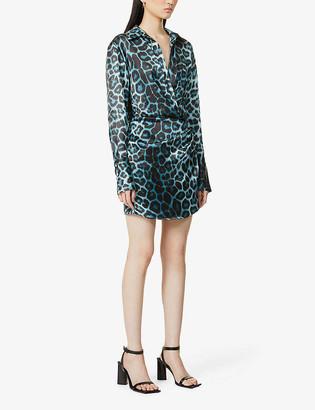 GAUGE81 Naha leopard-print silk mini dress