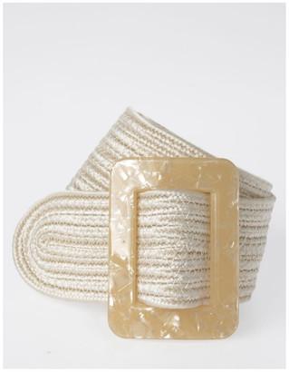 Piper DTW19-359-60 Weave W/ Acrylic Buckle Belt