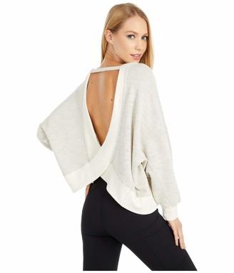 BB Dakota Women's Cute Crossing Cotton Fleck Pullover with Open Back