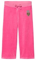 Juicy Couture Hot Pink Velour Heart and Crown Track Pants