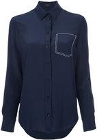 Joseph stitched pocket shirt - women - Silk - 36