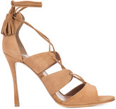 Tabitha Simmons lace-up sandals - women - Suede/Leather - 35.5