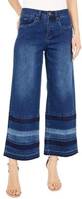 FDJ French Dressing Jeans Statement Denim Olivia Wide Leg Crop in Dark Indigo (Dark Indigo) Women's Jeans