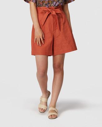 Princess Highway - Women's Orange Chino Shorts - Beverly Shorts - Size One Size, 6 at The Iconic