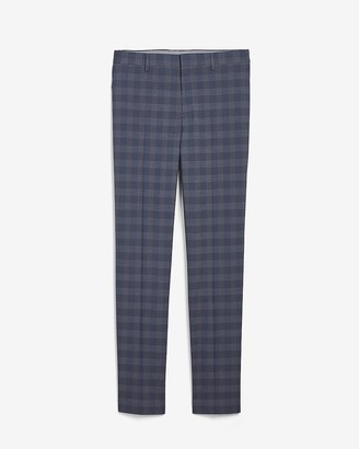 Express Slim Plaid Performance-Blend Dress Pant