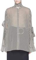 rokh Houndstooth print oversized crepe shirt