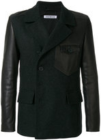 Dirk Bikkembergs panelled tailored jacket