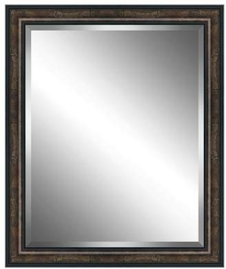 Watermark By Somerset House Brown Woodtone Wood Framed Beveled Plate Glass Mirror