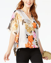INC International Concepts Butterfly-Sleeve Top, Created for Macy's