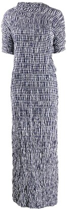 Comme des Garcons Pre-Owned 1997 Lumps and Bumps gingham dress