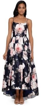 Xscape Evenings Floral-Print Ballgown