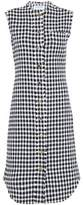 Thom Browne Frayed Houndstooth Cotton-Tweed Dress