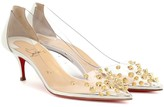 Christian Louboutin Collaclou 55 PVC and leather pumps