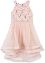 Speechless Embellished-Lace High-Low Dress, Little Girls (2-6X)