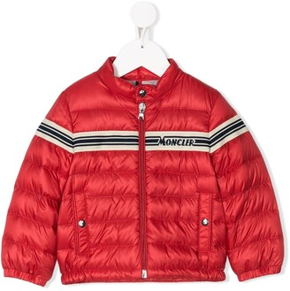 Moncler Enfant Logo Striped Padded Jacket
