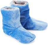 Hanes Blue Plush Sherpa-Lined Slipper