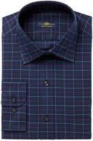 Club Room Men's Classic/Regular Fit Twill Tattersall Dress Shirt, Created for Macy's
