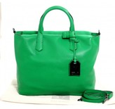 Reed Krakoff pristine (PR Zephyr Green Pebbled Leather Gym Tote Bag