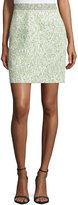 Proenza Schouler High-Waist Mini Skirt, White/Celadon