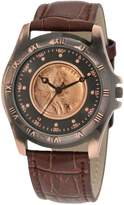 August Steiner Men's CN001C-AS Round Wheat Penny Antique Copper Collectors Coin Watch