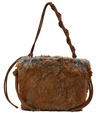 Dries Van Noten Fur tote bag