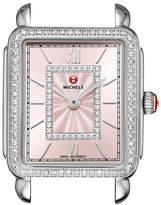 Michele Deco II Midsize Diamond Watch Head, Blush Dial