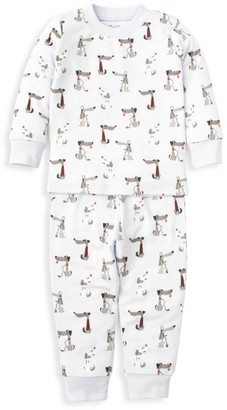 Kissy Kissy Baby's & Little Boy's In Tune Pups 2-Piece Pajama Set