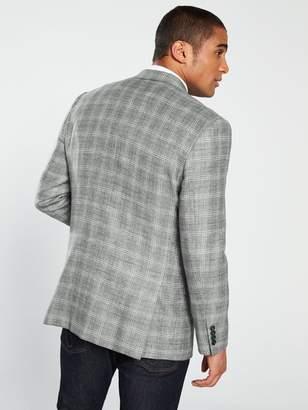 Skopes Syracuse Check Suit Jacket - Grey