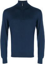 Brioni zip collar jumper